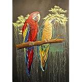 Bunte Papageien von Merlin-Style
