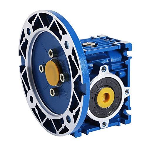 FlowerW Drehzahlminderer Verhältnis 15/1 56C Schneckengetriebe Reducer 1750 RPM Hoch Drehmoment Schneckengetriebe Vervollkommnen für Elektrische Tür Mini Kran Hoist (NMRV 030) -