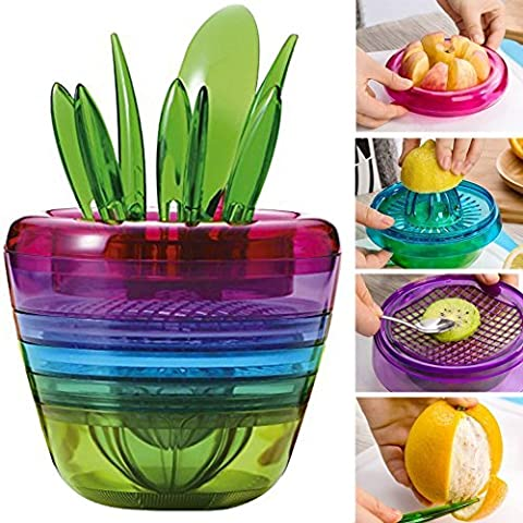 Paracity(TM) Fruit Salad Cutter Citrus Juicer Grinder Kitchen Gadget Flower Pot Cooking Tools Kitchen Accessories