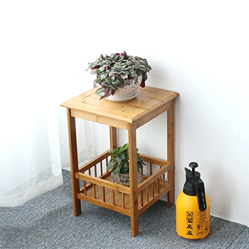 MILUCE Multi-Tier Plant Bamboo Flower Frame Balcon Multi-Fonction Flower Pot Display Stand 50 * 33CM