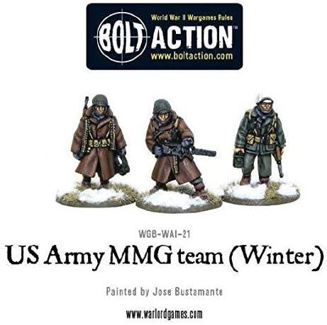 Warlord Games - US Army MMG team (Winter) - 28mm Bolt Action Wargaming Miniatures   Le Roi De La Quantité