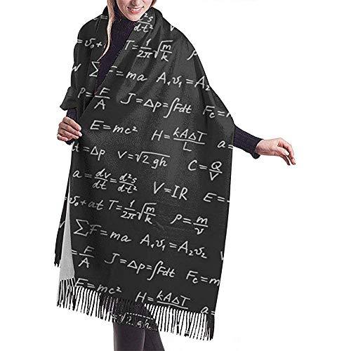 Elaine-Shop Physik Mathematik Gleichung Frauen Casual Cashmere Schal Wraps Winter Großer Schal
