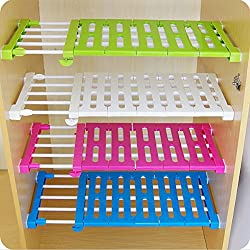 Étagères PDFans extensibles pour armoire de cuisine, réfrigérateur, armoire, ou bibliothèque, ABS, aléatoire, 38-55CM