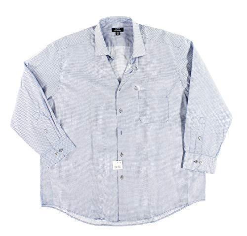 Alfani Men Dress Shirt Small Button-Front Regular-Fit Performance Blue S (Alfani Mens Dress)