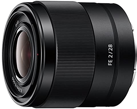 Sony Weitwinkelobjektiv SEL28F20 (28 mm, F2, E-Mount Vollformat, geeignet für A7 Serie) schwarz