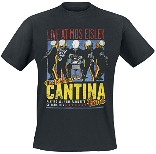 Star Wars Cantina Band On Tour T-Shirt Schwarz 3XL (Band T-shirt Ihn)