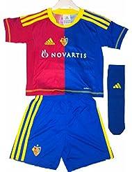 Adidas FC Basel Baby Minikit Trikot Set rot blau 3-tlg. Gr. 116
