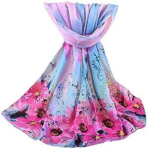 Heronsbill Scarf,BaojunHT Says Light Fire Color Printing Shawls Stylish Aesthetic Wrap