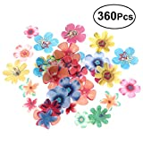 Bestonzon 360PCS fiori commestibili cupcake wafer paper dessert cake topper festa di compleanno cibo decorazione