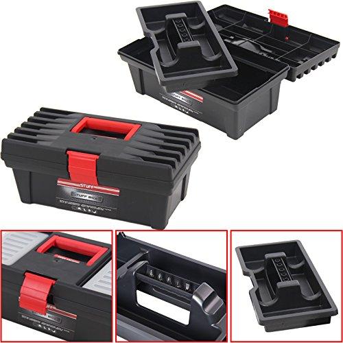 Kunststoff Werkzeugkoffer Stuff Basic 12''', 31x16,5cm Kasten Werzeugkiste Sortimentskasten Werkzeugkasten Anglerkoffer