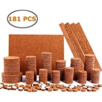 Ohuhu 3-80400-01-HKTS Felt 181 Pieces Multi-Size Protectors for Furniture Feet Pads Protect Your Hard Floors from Furniture Marring and Scratches Brown