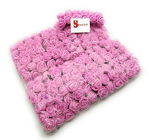 Satyam Kraft Colourful Artificial Mini Rose Foam Calla Flower New Bunch :...