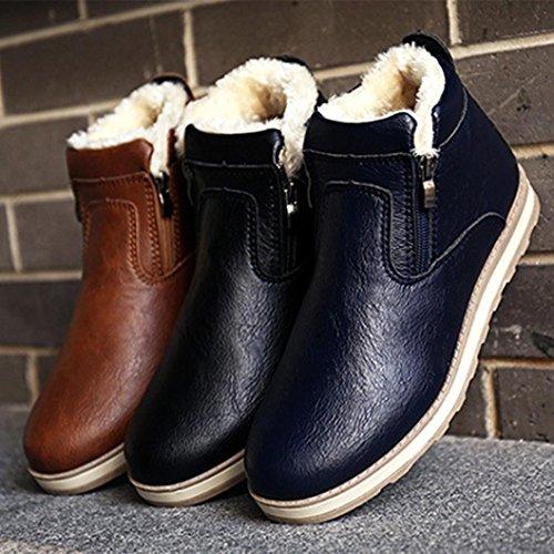 Men Casual Shoes Boots, SOMESUN Gli uomini di inverno stivali caldi dei pattini casuali Moda peluche Snow Boots Blue