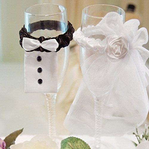 Bei Wang Hochzeits-Wein-Glas-Charme / Tischdekoration Hochzeitsdekoration Braut und Bräutigam Glas Kostüm Dekoration Hochzeit liefert Hochzeitsdekoration