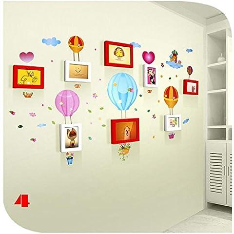 QPLA@inklusive Zubehör / Foto-Collage / Bildergalerie / Bilderrahmen-Set 8 Kasten