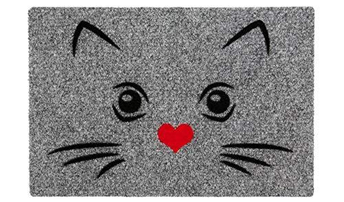 LAKO Fußmatte, Synthetik, 168 Katzenmotiv - Nase rot, 60 x 40 x 0,8