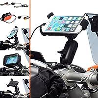 Ultimate Addons–Morsetto per Manubrio Moto/Bici M6M8M10Bullone Staffa e Supporto universale One per Apple Iphone 66s 74.7 - Staffa Bullone