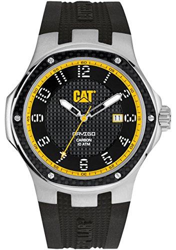 Navigo CAT carbonio Data-Orologio da uomo al quarzo con Display analogico e cinturino in Silicone A5,141.21,111, colore: nero