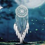 Pro handgefertigt weiß Spitze Traumfänger Windspiel Dreamcatcher Net hängende Dekoration Ornament für Schlafzimmer/Home Decor/Hochzeit (Durchmesser 20In), a, Einheitsgröße
