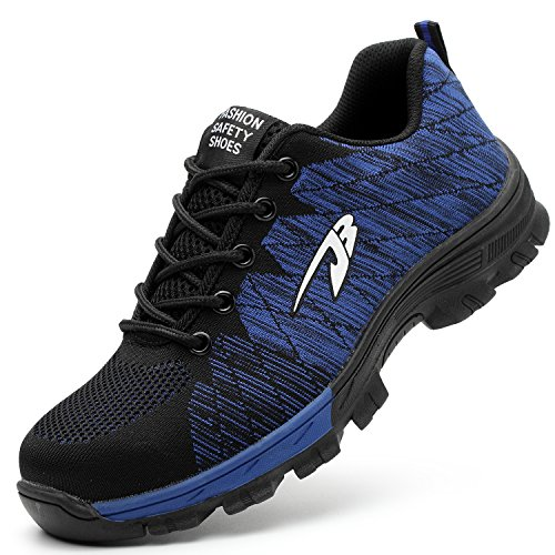 COOU Zapatillas de Seguridad para Hombre Ligeras S3...