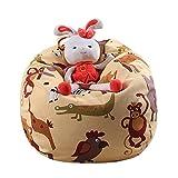 Spielzeug Aufbewahrungstaschen, Holeider Sitzsack Kinder Stofftier Kuscheltiere Aufbewahrung Aufbewahrungstasche Soft Pouch Stoff Stuhl (C)
