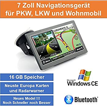 hieha 7 zoll gps navigationsger te lkw pkw navi bluetooth. Black Bedroom Furniture Sets. Home Design Ideas