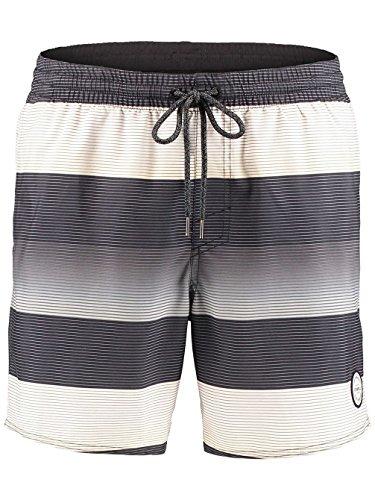 O'Neill Herren Santa Cruz Stripe Shorts Boardshorts black aop