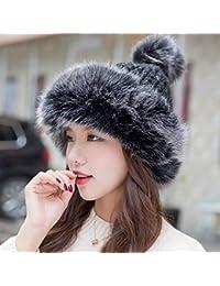 TOPmountain Mongolian Hat - Sombrero de Punto para Mujer de Invierno ee5de6e7a96f