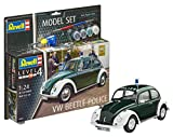 Revell Modellbausatz Auto 1:24 - Volkswagen VW Käfer Polizei 1968 (VW Beetle Police) im Maßstab 1:24, Level 4, originalgetreue Nachbildung mit vielen Details, , Model Set mit Basiszubehör, 67035