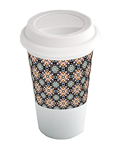 Coffee cup with Clipart pattern.