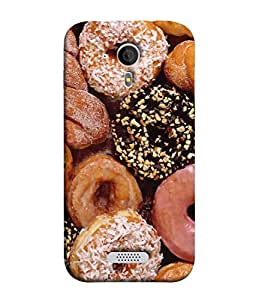 PrintVisa Designer Back Case Cover for Micromax Canvas HD A116 (chocolaty coconut yummy tasty cookies)