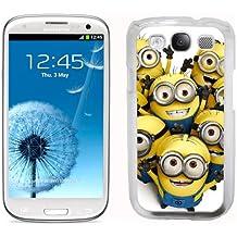 Music Monkeys - Carcasa rígida para Samsung Galaxy S3 i9300, diseño de minions de Gru mi villano favorito