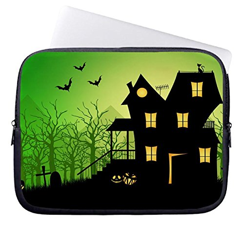 hugpillows-laptop-sleeve-bag-haunted-house-holiday-notebook-sleeve-cases-with-zipper-for-macbook-air