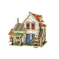 Creative Assemble Puzzle Toys Child Early Education Wooden 3D Puzzle House France Farm