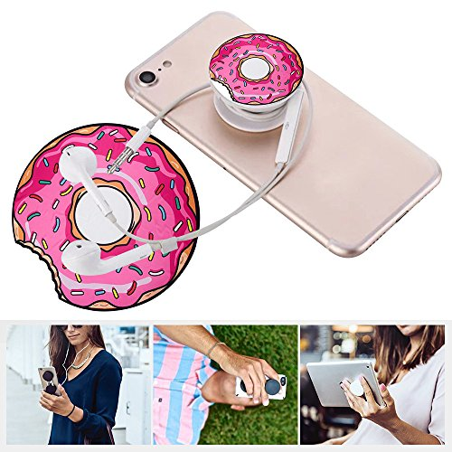 Multifunción carpeta con Mango y soporte para iPhone 44S 55S SE 66S 77s 8x Plus iPod iPad Samsung HTC Huawei Smartphone y Tablet Puerta móvil portátil para el teléfono blanco negro rosa Donuts