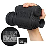 Boblov Bestguarder WG-50 Infrared Night Vision HD 720P IR Monocular Telescope 1.5'' color LCD screen 6x50 Zoom Record DVR (Mit TF32GB Card)