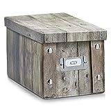Aufbewahrungsbox Pappe XS (CD-Box) Holzdekor 17865 Aufbewahrungskiste