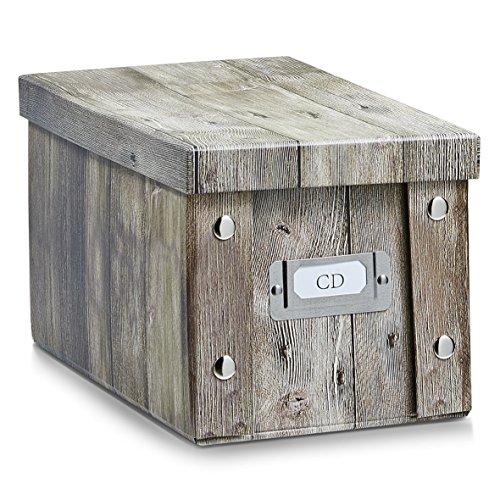Zeller 17865 Aufbewahrungsbox, Wood, ca. 16,5 x 28 x 15 cm (Holz-cd-box)
