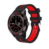 Bluetooth Smart Watch Con Control Remoto De La Cámara Podómetro Sports Fitness Tracker Reloj De Pulsera Con Control Del Ritmo Cardíaco, Adulto Niño Hombre Mujer.ZHA-GOO,Red