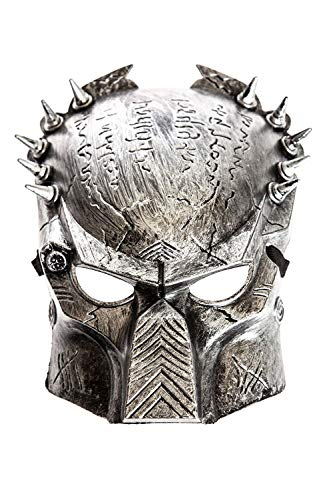 Kostüm Jungen Predator Für - B-Creative Predator Maske Alien Halloween Fancy Kleid Erwachsene Männer Jungen Silber Kostüm