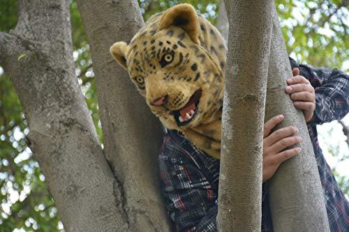 Party Fun Maske Tiermaske Beliebte Handgemachte Leopard Moving Mund Kunstpelz Erwachsenen Kostüm Maske Für Weihnachten Ostern Karneval Kostüm Parteien Tag Party Nachtclub Tierkopfmaske Gruselige Tierm