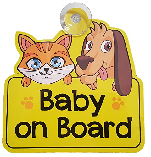 BABY ON BOARD CAR SIGN FOR CAR WINDOW   GIFT / PRESENT FOR NEW BABY  GIRL  BOY  KID  CHILD  STICKER  DECAL  VINYL