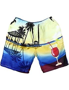 Pantalones De Playa Talla Grande Hombre LHWY, BañAdores Con Estampado Secado RáPido Ajustable Transpirable Para...