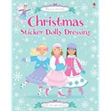 Christmas Dolly Dressing (Usborne Sticker Dolly Dressing) by Leonie Pratt (2007-09-28)