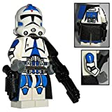 Custom Brick Design CBD 501st Legion Clone Trooper Offizier Rang Sergant Figur gefertigt aus Lego Star Wars & Custom Teilen