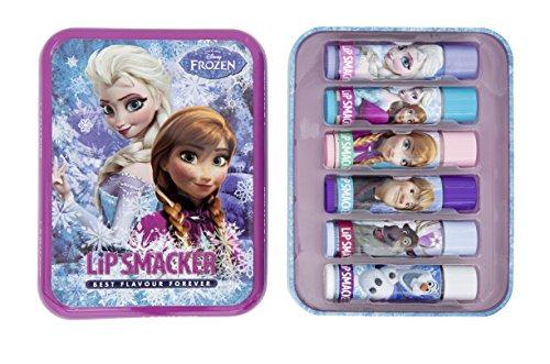 Lip Smacker Boîte Métal Reine des Neiges - Baumes à Lèvres 6 Pièces