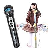 Jouets pour Enfants, Susenstone Kids Microphone Micro Karaoké Chant Cadeau Drôle Musique Jouet, Noir