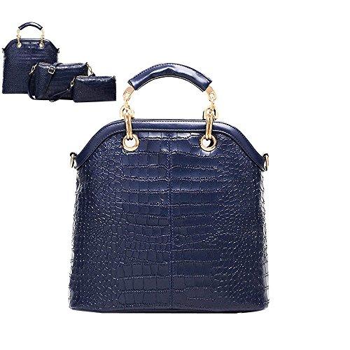 Longra donne di modo sacchetti semplici tre pezzi Blu