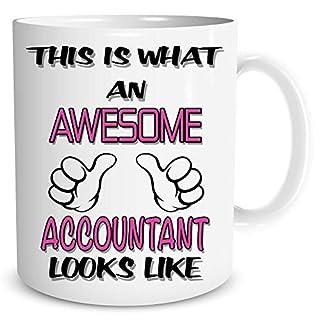 Novelty Mug Awesome Accountant Coffee Tea Funny Gift Birthday Cup Work WSDMUG785