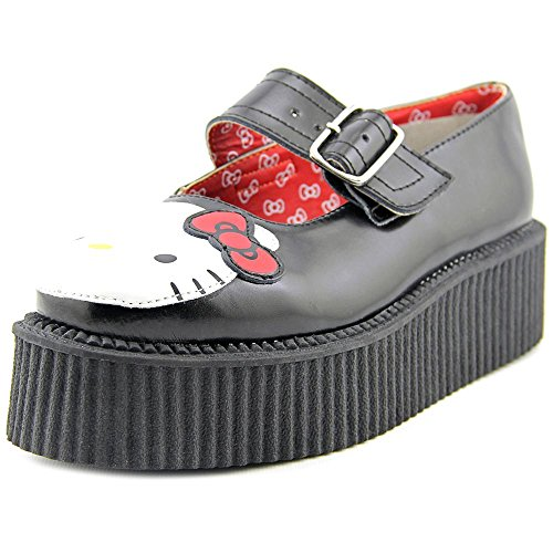 T.U.K. Hello Kitty Mary Jane Creeper Donna US 10 Nero Mary Janes